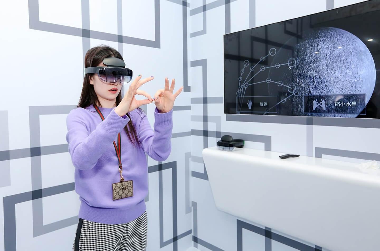 Headset voor augmented reality