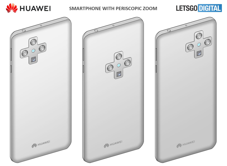 Huawei smartphone periscopische zoom