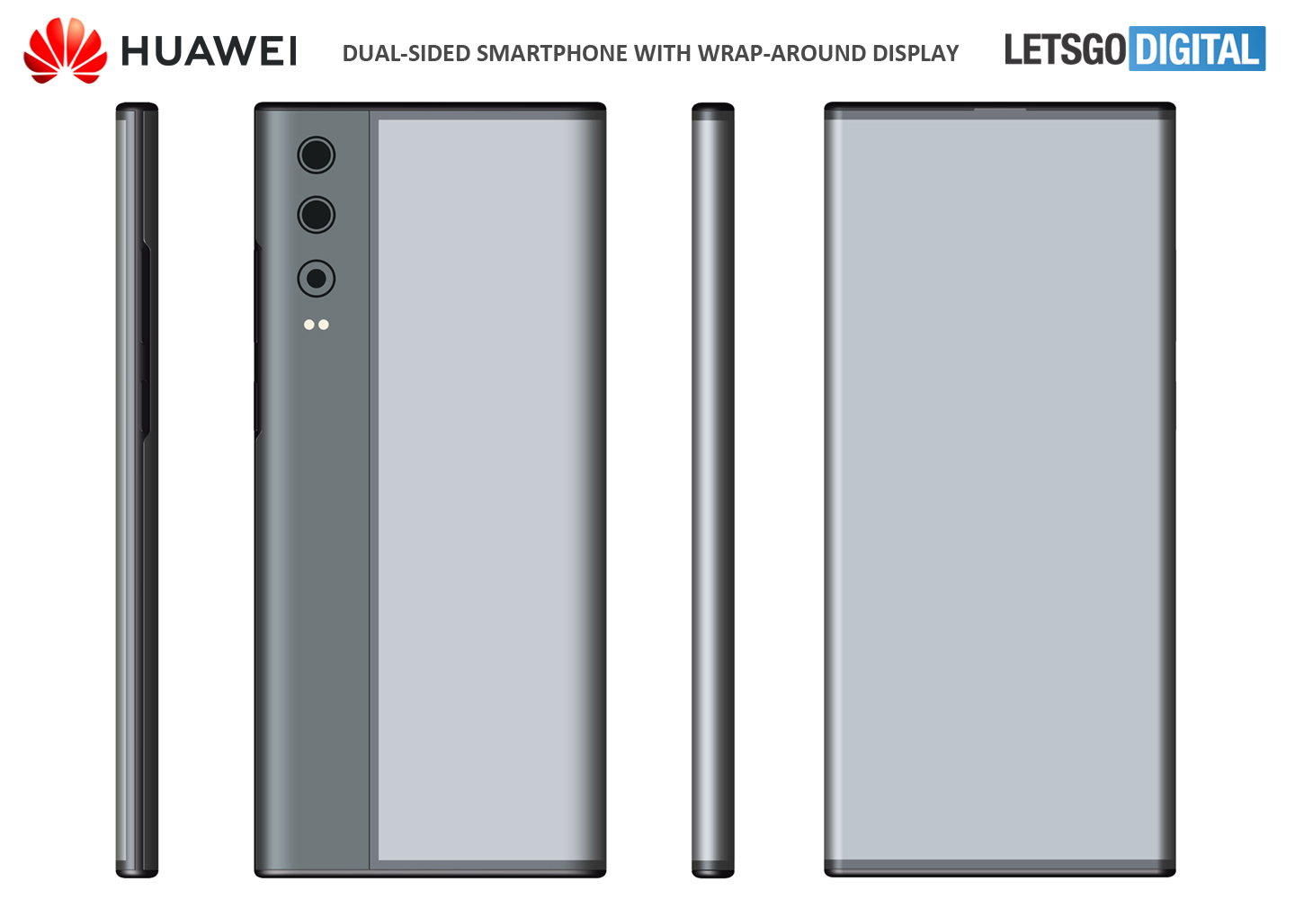 Huawei smartphone wrap-around display