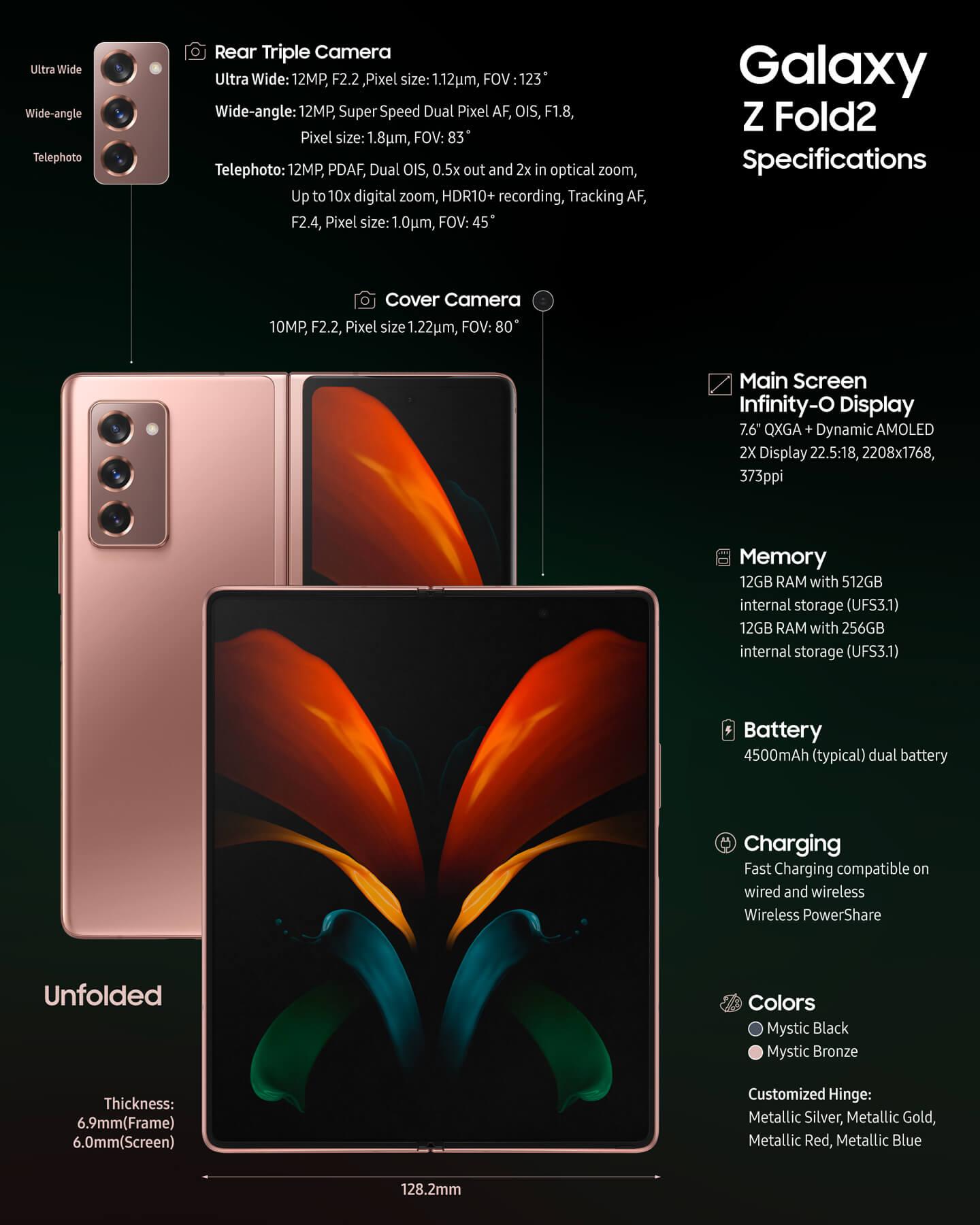 Samsung Galaxy Z Fold 2 specs