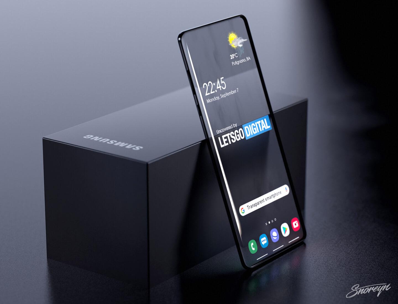 Samsung transparante smartphone