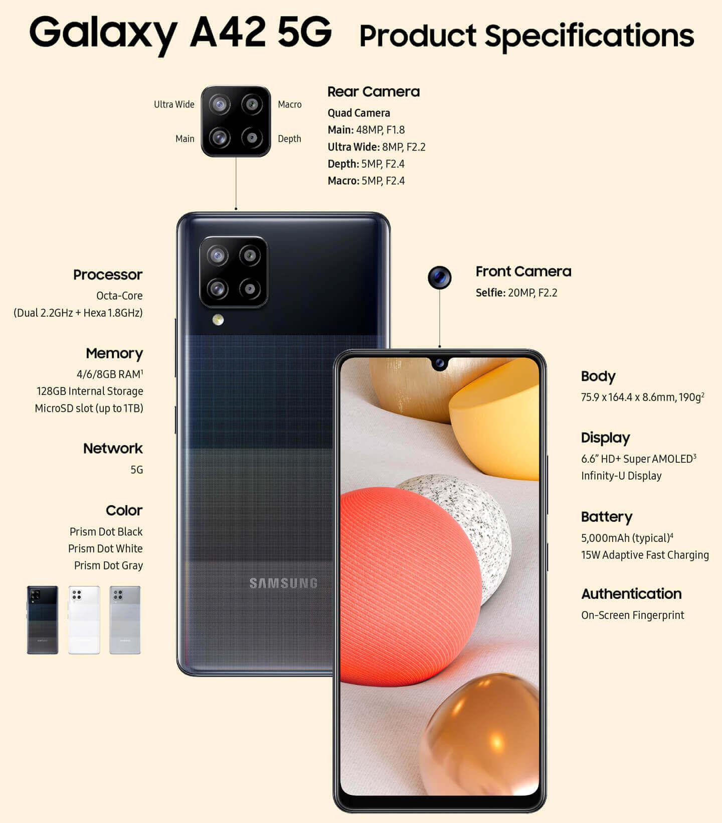 5G Samsung smartphone
