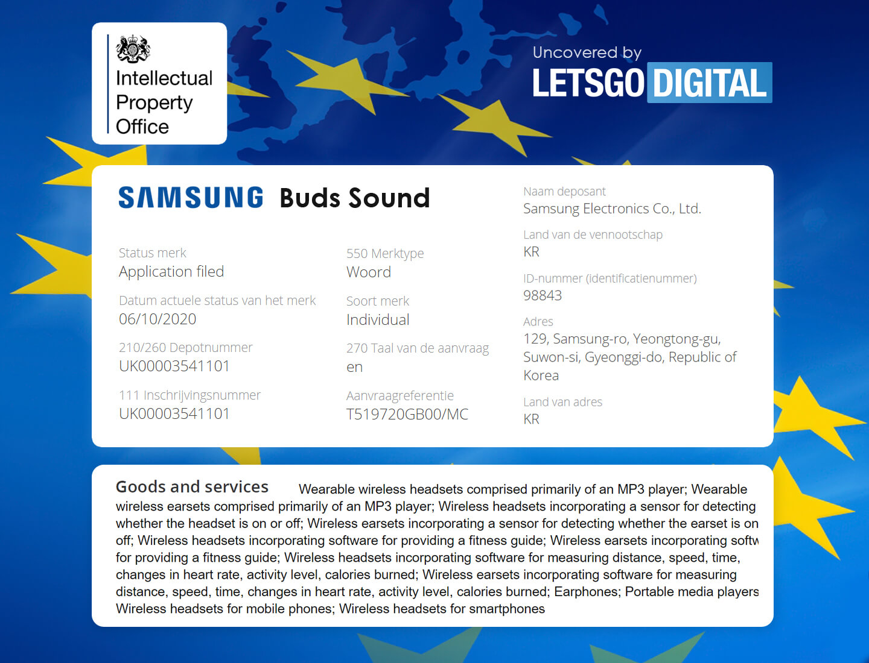 Galaxy Buds Sound wireless oordopjes
