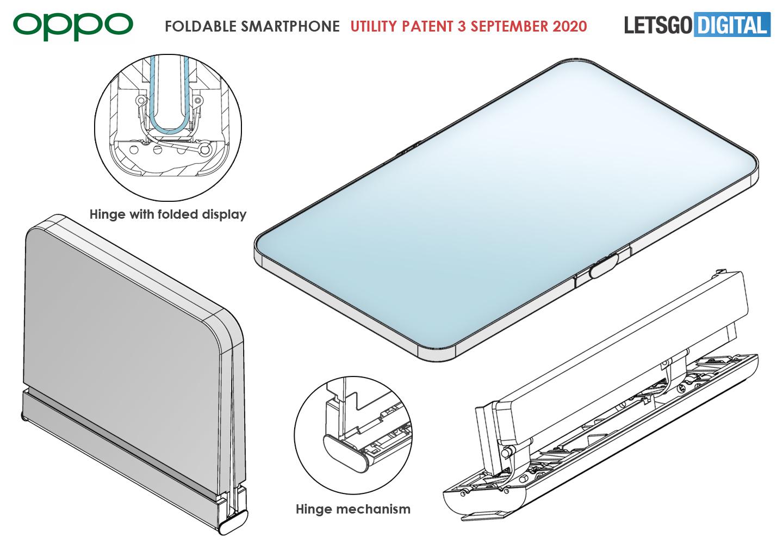 Oppo opvouwbare telefoon clamshell design