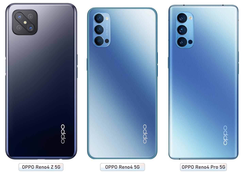 Oppo Reno 4 smartphones