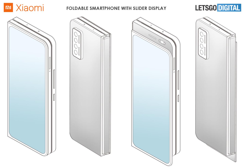 Opvouwbare smartphone slider display