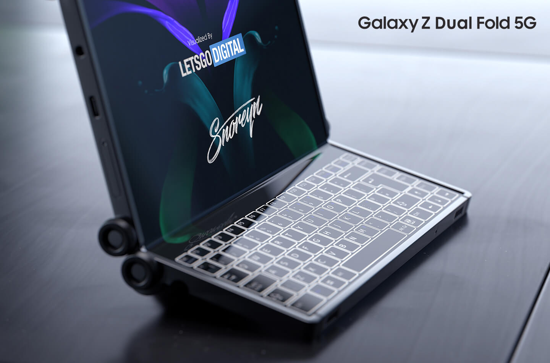 Samsung Galaxy Z Dual Fold smartphone uitvouwbaar tot tablet