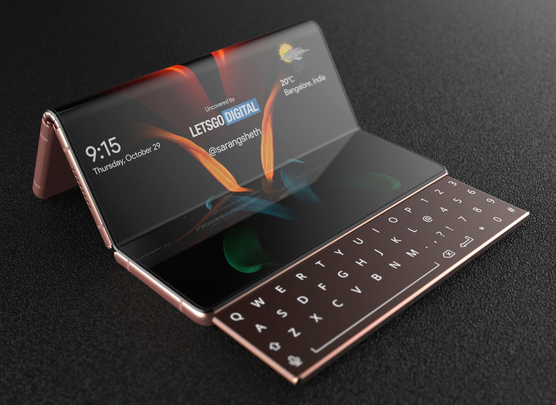 Tastiera scorrevole per smartphone pieghevole Samsung