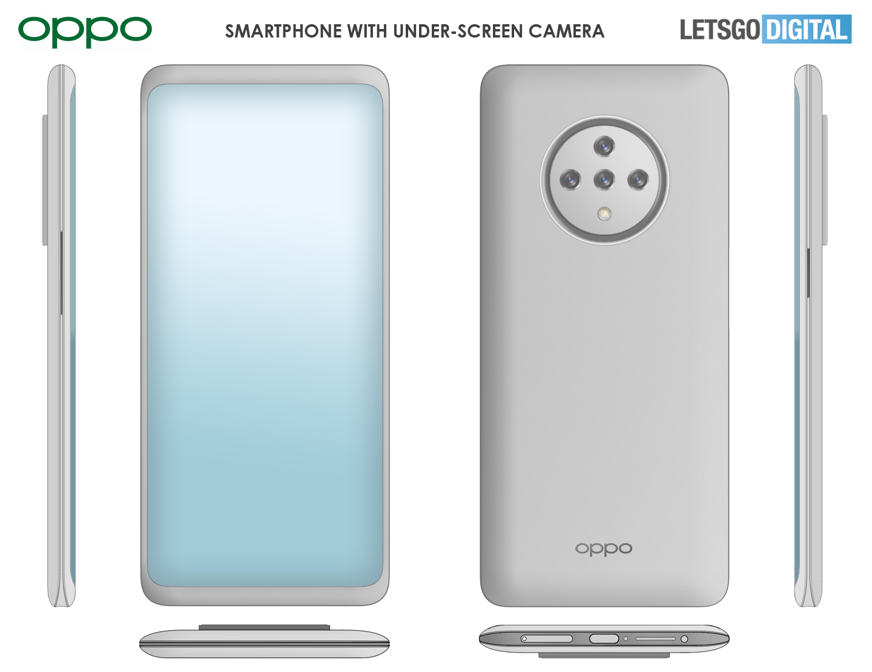 Oppo 5G smartphone under-screen camera