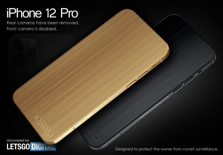 iPhone 12 Pro zonder camera's