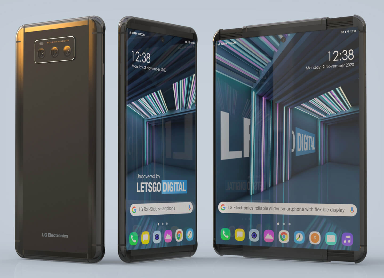 Smartphone arrotolabile LG