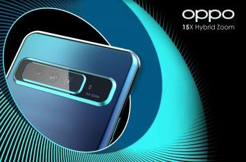 Oppo Reno smartphone 15x zoom camera