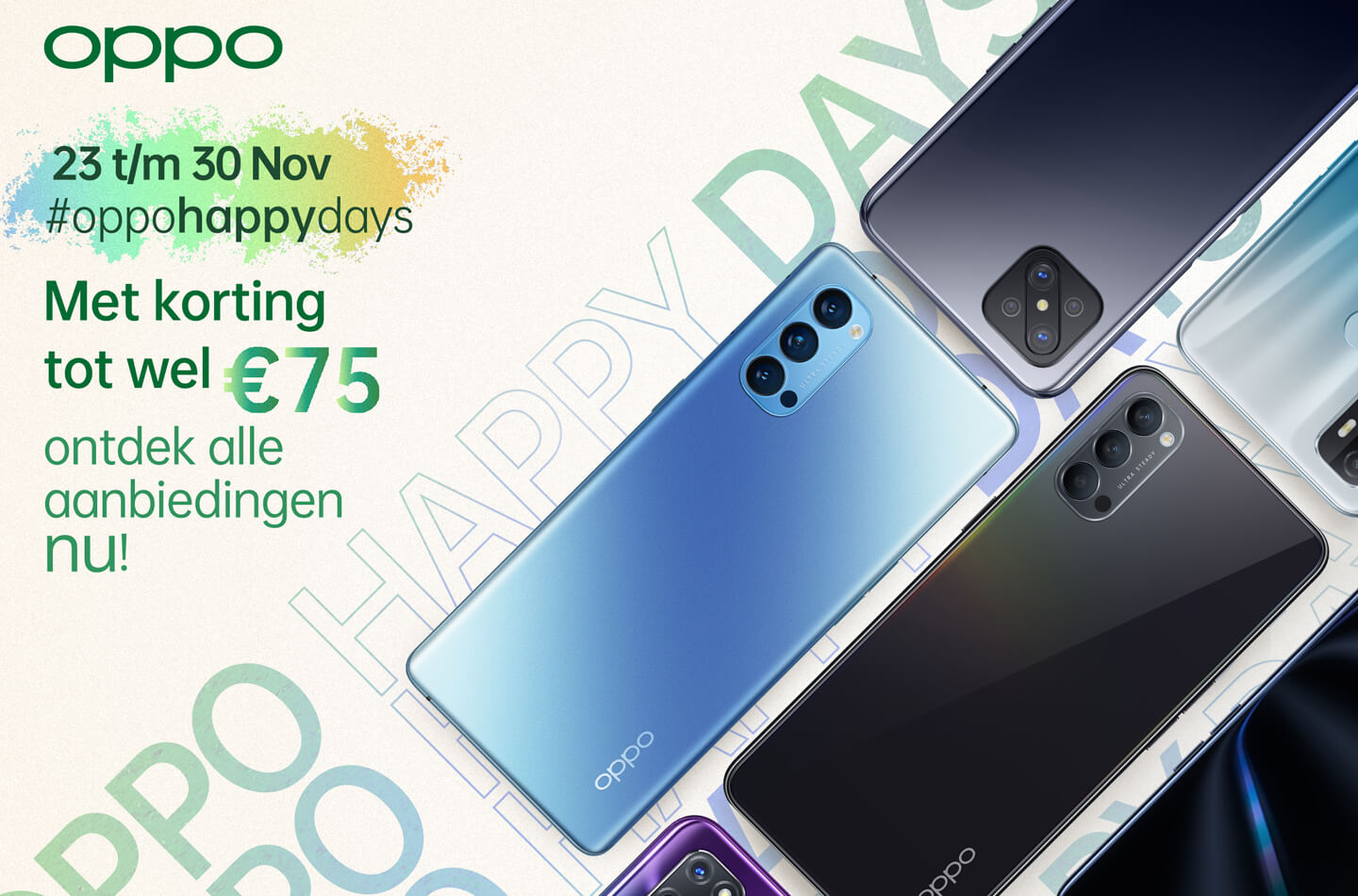 Oppo telefoon back friday