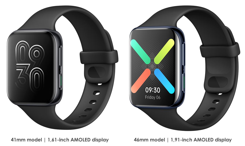 Oppo Watch modellen