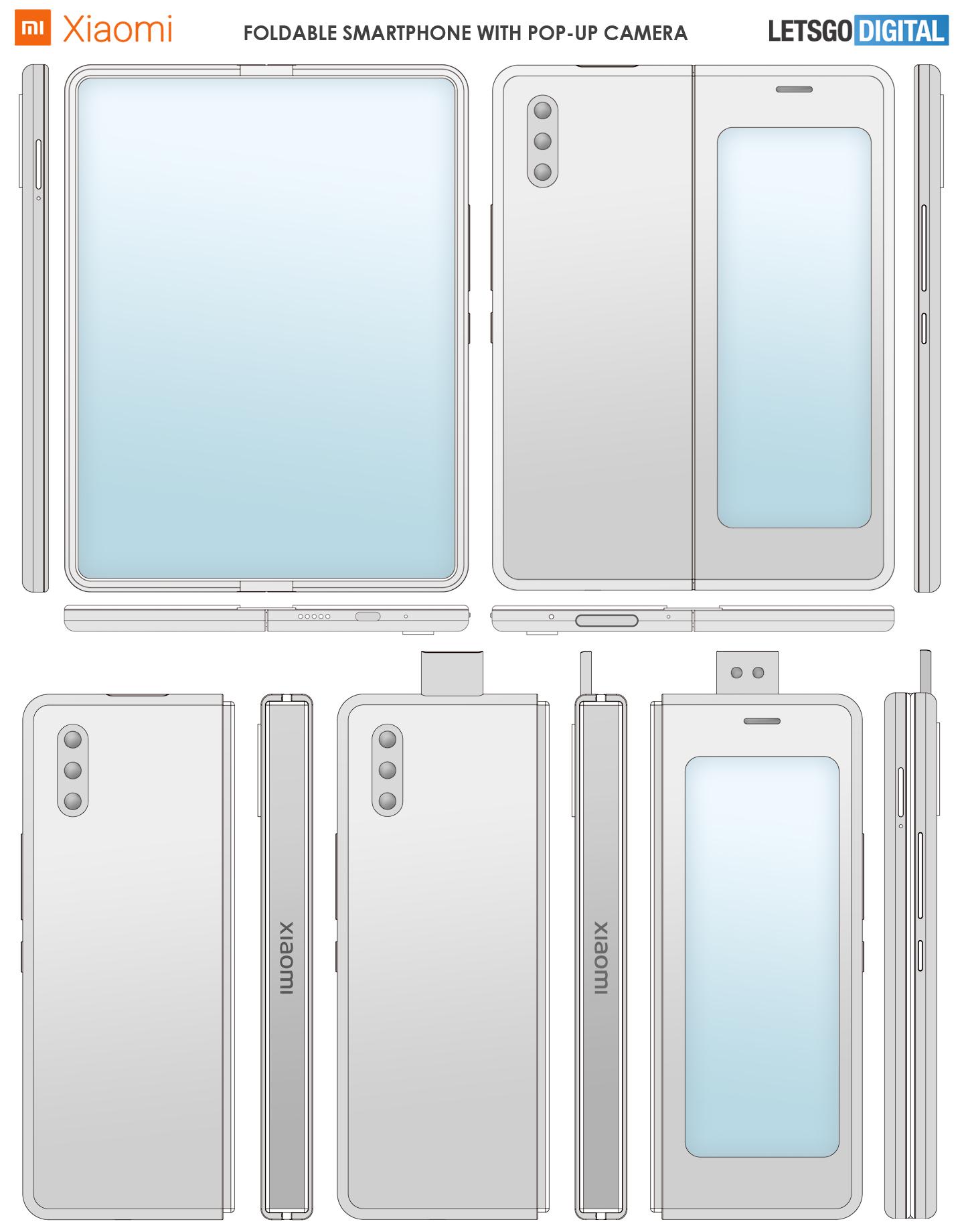 Xiaomi vouwtelefoon met pop-up camera