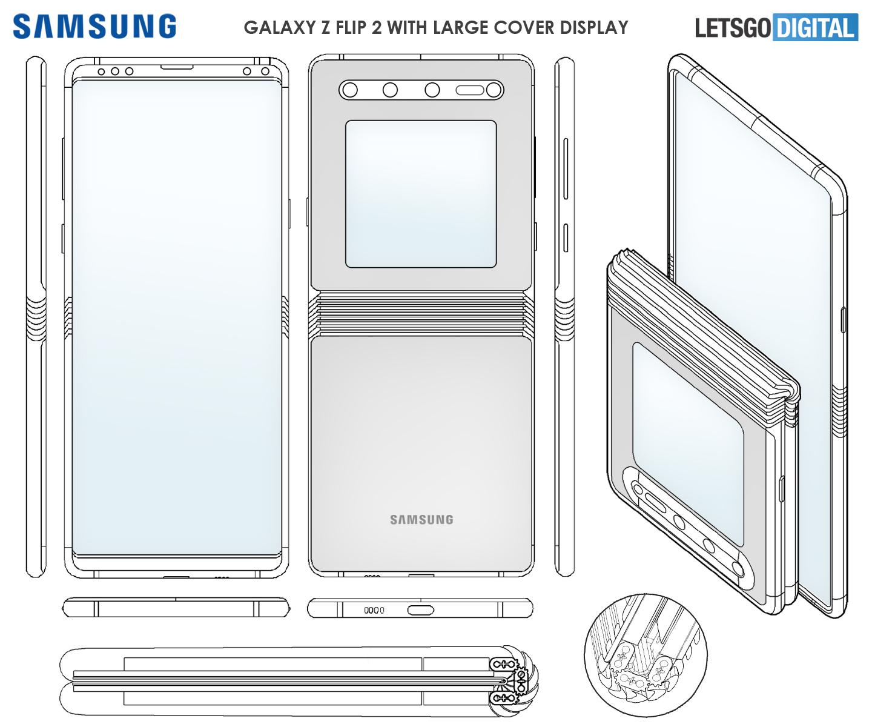 Galaxy Z Flip 2 vernieuwd scharnier