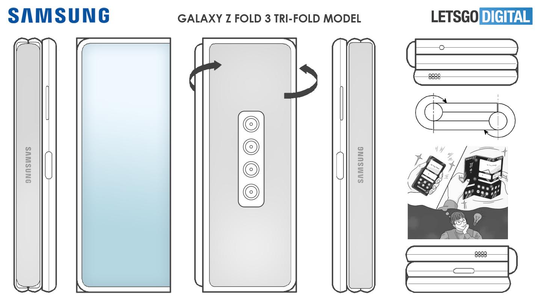 Samsung telefoon Z Fold design