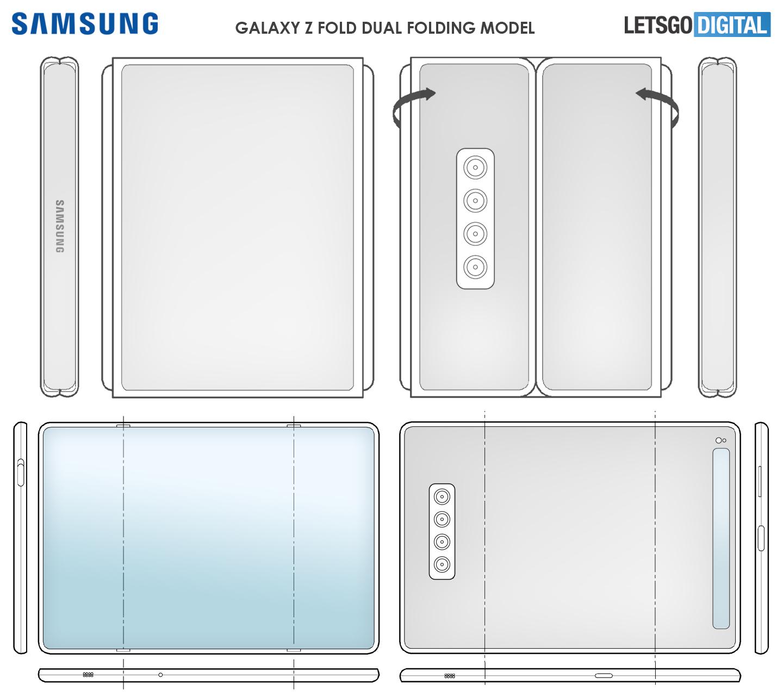 Samsung Tri Fold smartphone