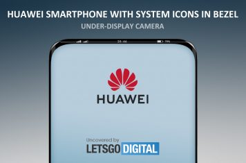 Huawei smartphone camera display bezel