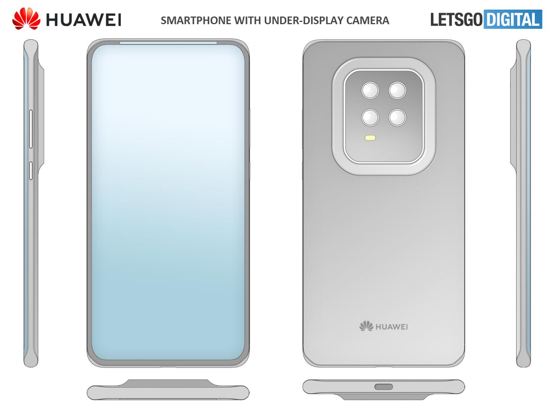 Huawei smartphone mini display bezel