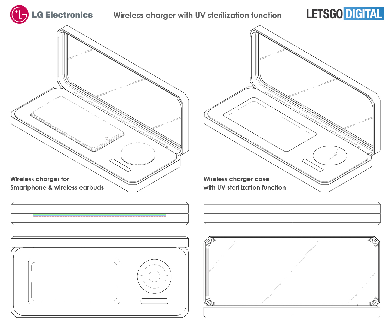 LG draadloze oplader UV sterilizer