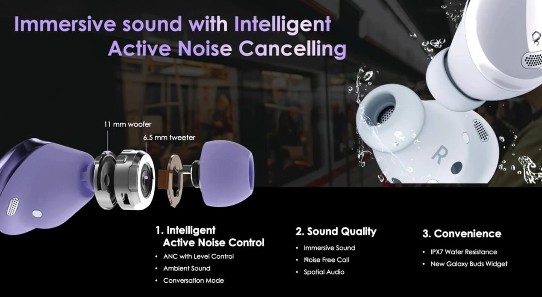Oordopjes met active noise cancellation