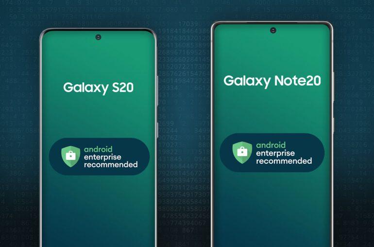 Samsung Galaxy S20 Note20 zakelijk gebruik