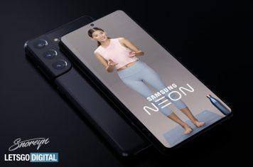 Samsung Galaxy S21 Neon View app