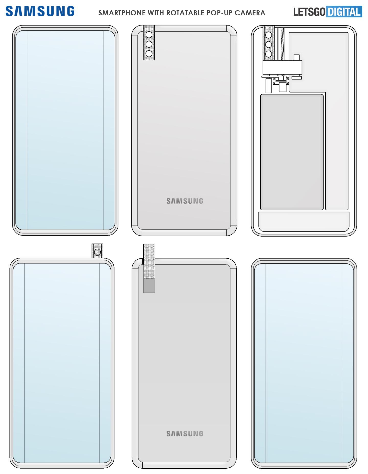 Samsung smartphone roterende pop-up camera