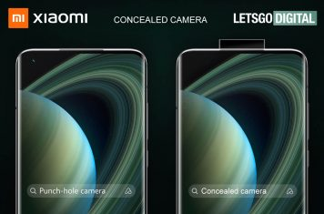 Xiaomi smartphone pop-up camera