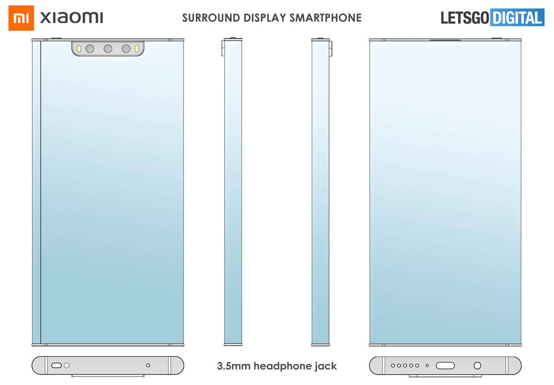 Xiaomi smartphone wrap-around display