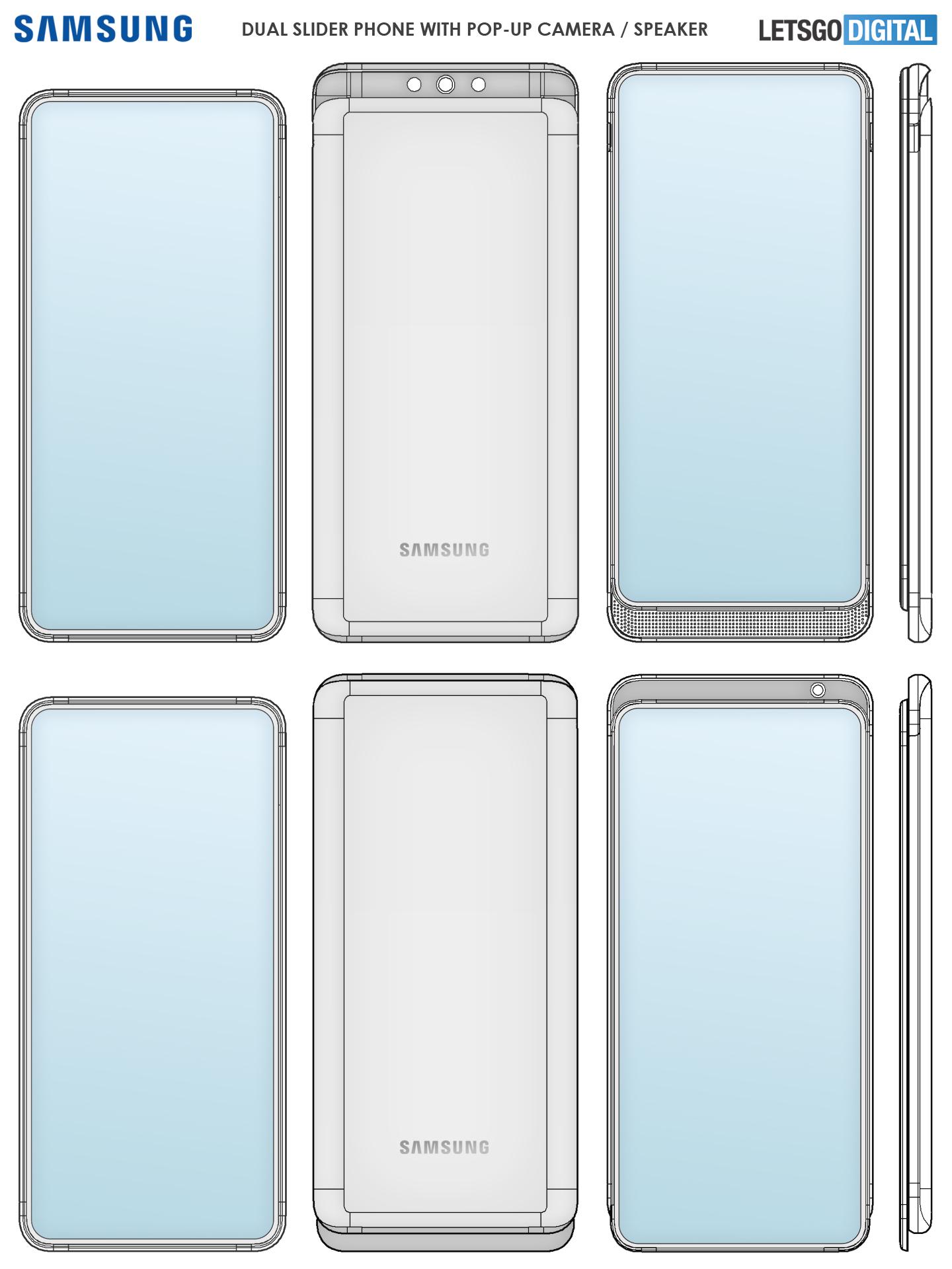 Samsung dual slider smartphone