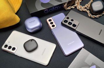 Samsung Galaxy S21 smartphones