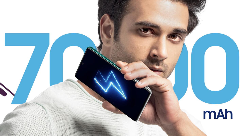 Smartphone met 7000 mAh batterij