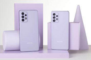 A52 A72 Galaxy A-serie smartphones