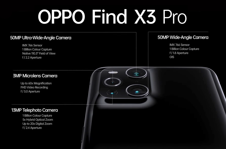 Find X3 camera