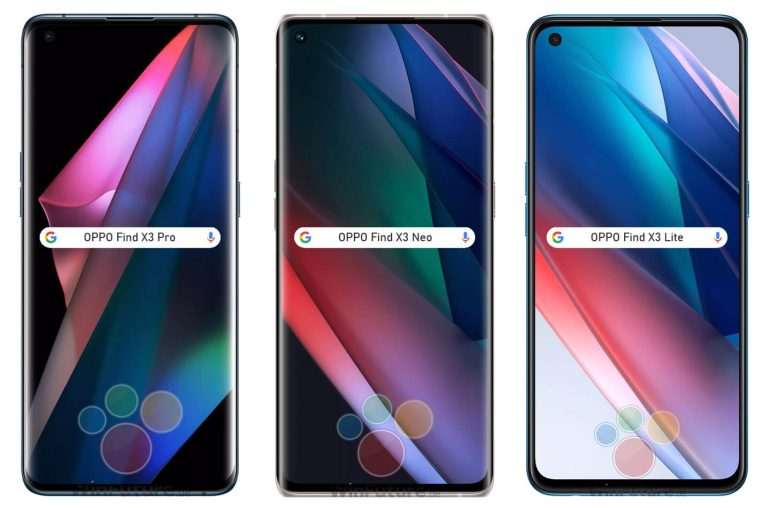 Oppo Find X3 smartphone serie