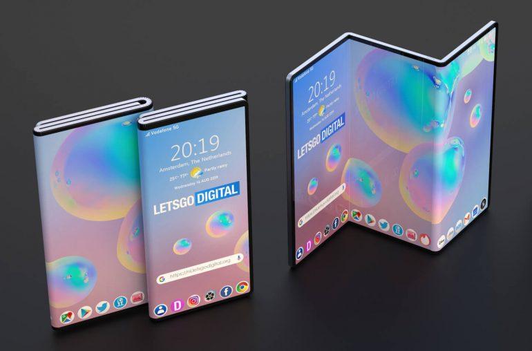 Samsung dubbel vouwbare telefoon