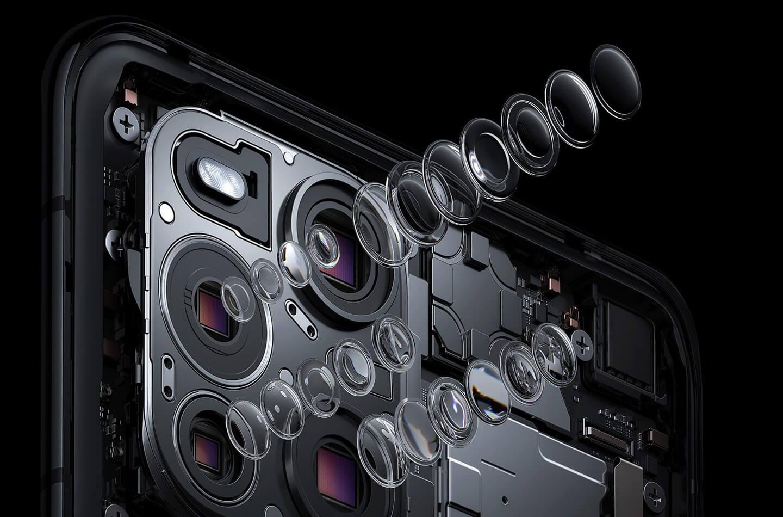 Smartphone met 60x microscooplens