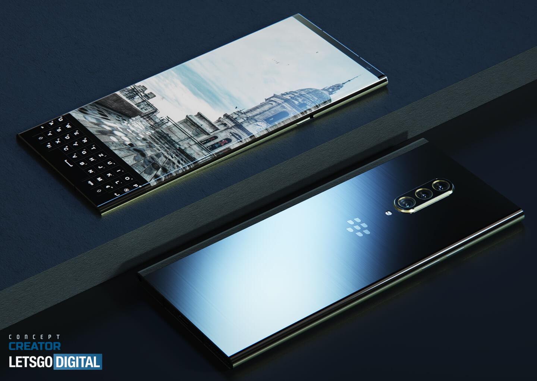 BlackBerry smartphone met toetsenbord