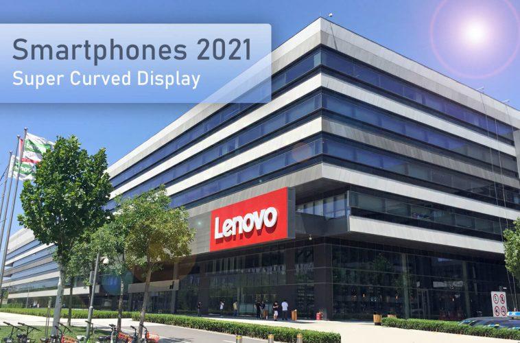 Lenovo smartphone super curved display