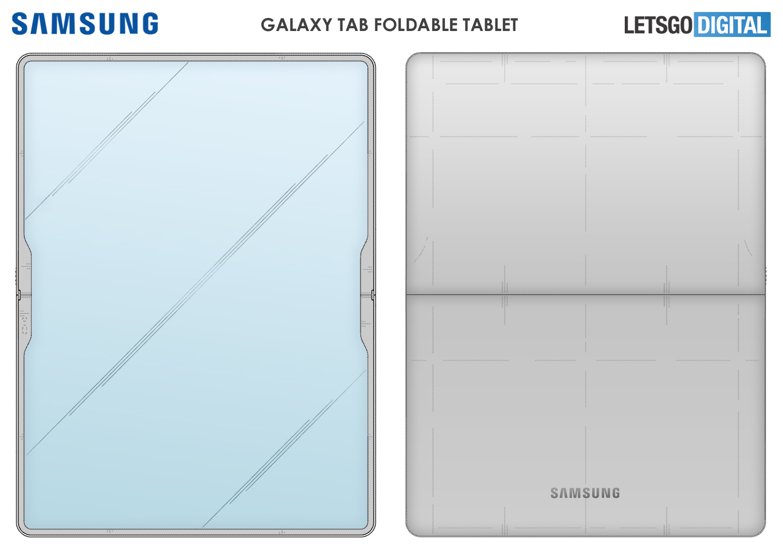 Opvouwbare Samsung tablet