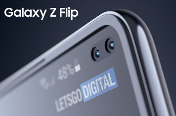 Samsung Galaxy Z Flip dual punch hole camera