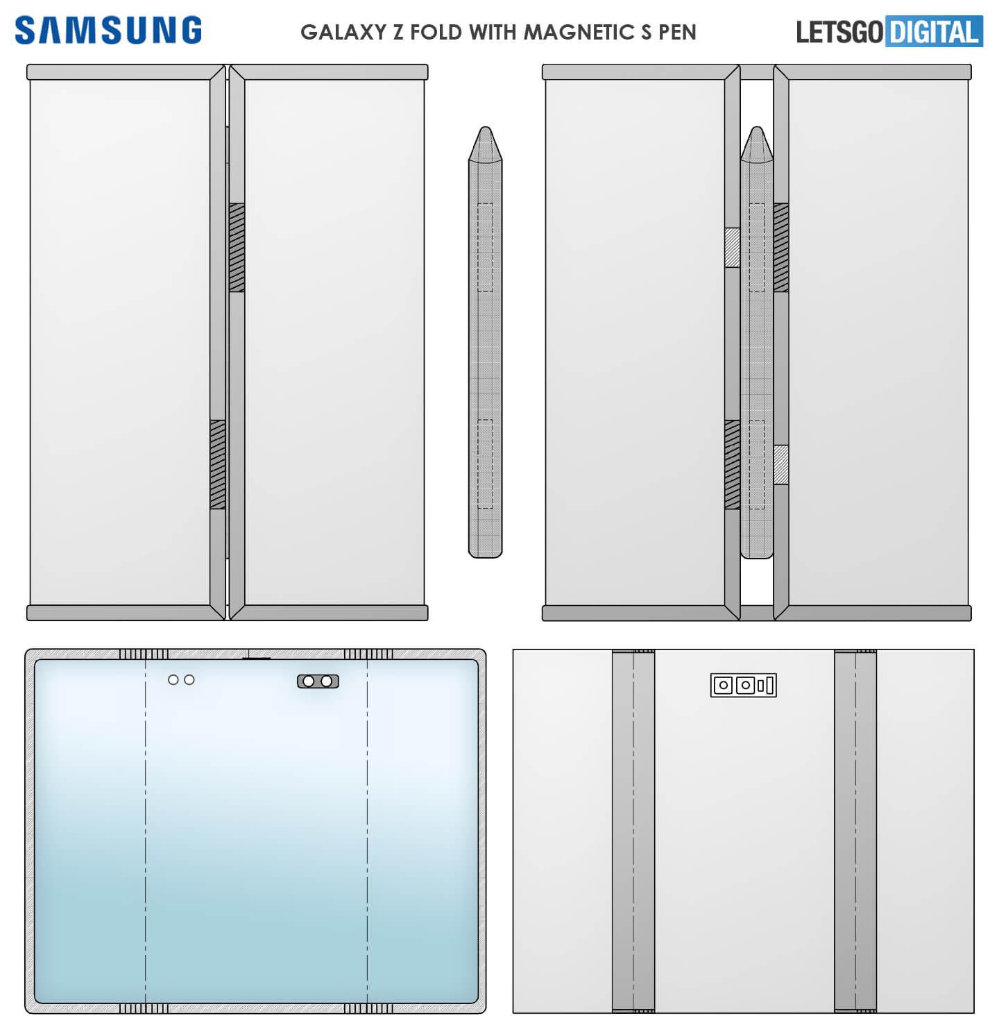 Samsung Z Fold S-Pen magnetisch