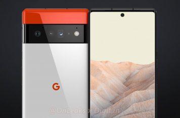 Google Pixel 6 curved display