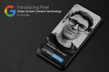 Google Pixel smartphone under-screen camera