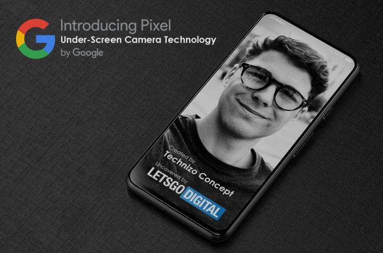 Google Pixel smartphone under-screen camera