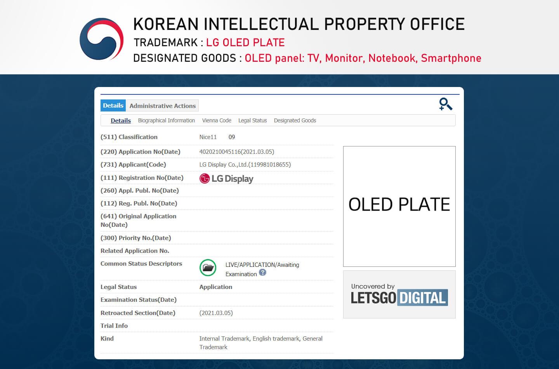 LG OLED Plate