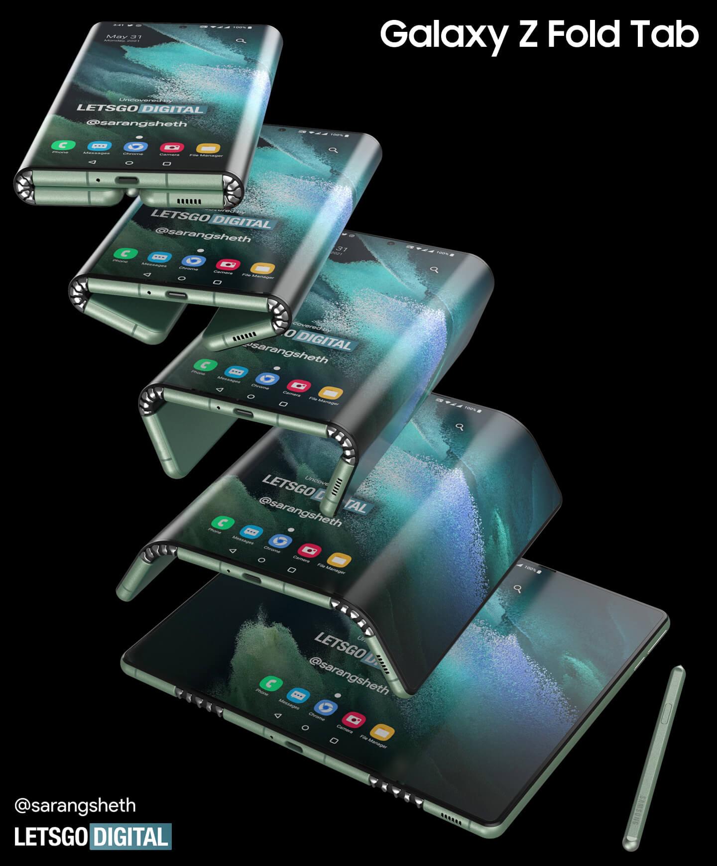Samsung Galaxy Tab opvouwbare smartphone
