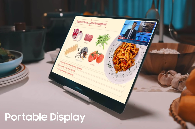 Layar portabel Samsung